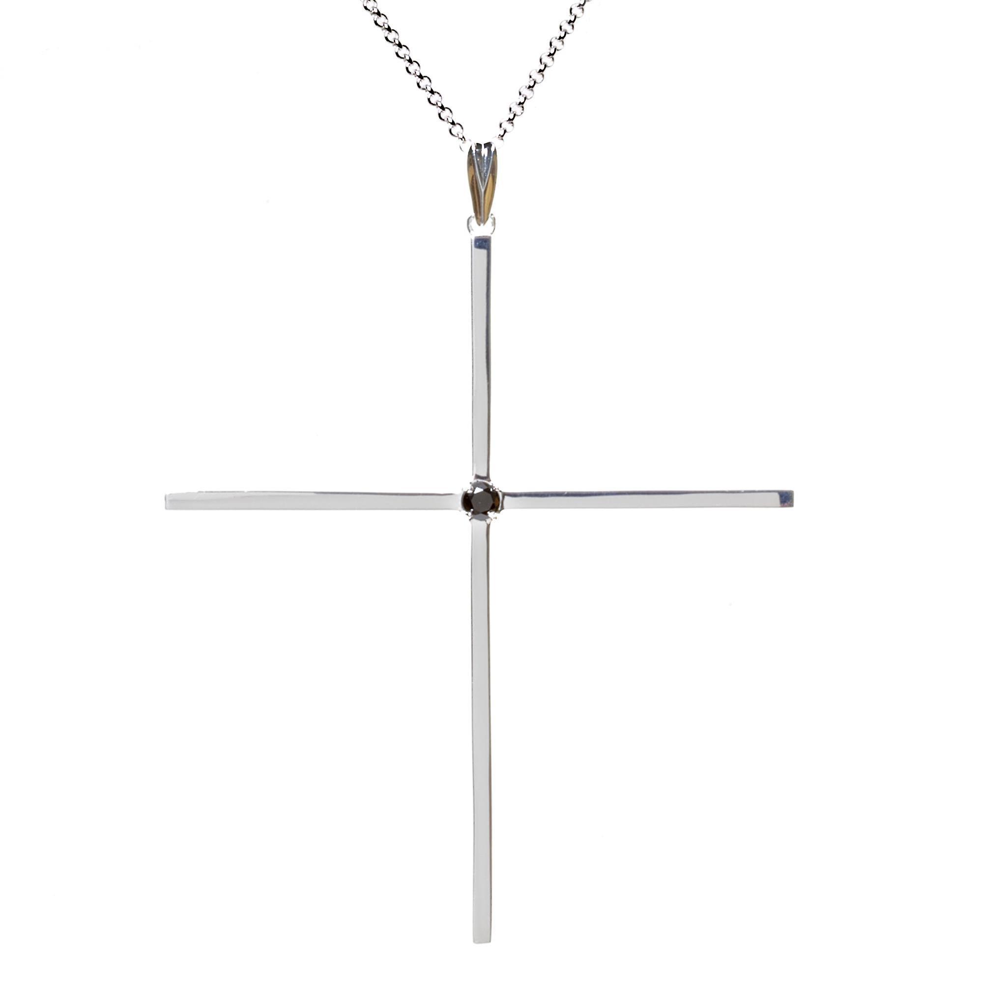 Kim Minchin Classic Cross Silver Necklace