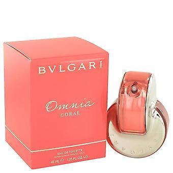 Omnia coral eau de toilette spray by bvlgari 500343 41 ml