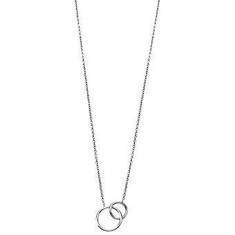 Lotus Silver It Girls necklace and pendant LP1793-1-1 - Silver Collar and Pendant Two Rings Women's Entralaces