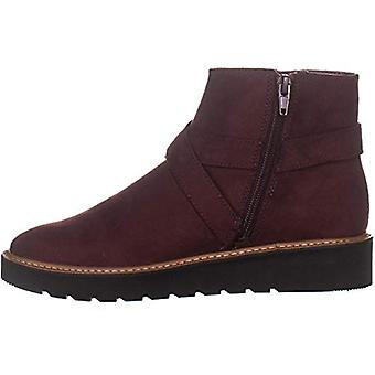 Naturalizer Womens Element Faux Suede Ankle Booties (8.5 Wide, Bordo Fabric)