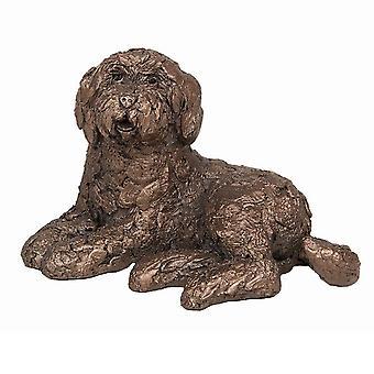Frith Sculptures Koko Labradoodle Sitting Bronze Small Figurine
