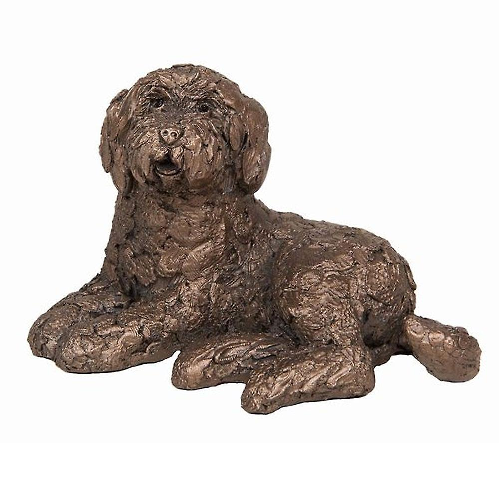 Frith Sculptures Koko Labradoodle Sitting Bronze Small Figurine
