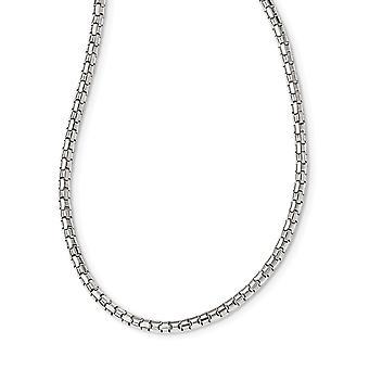 925 εξαιρετικό ασημένιο γυαλισμένο φανταχτερό περιδέραιο συνδέσεων 16 ίντσας δώρα κοσμήματος για τις γυναίκες-8,4 γραμμάρια