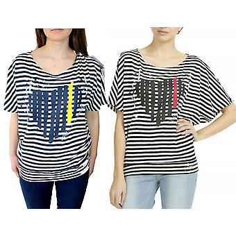 Desigual Women's Loose Cut Striped Aldara Tshirt