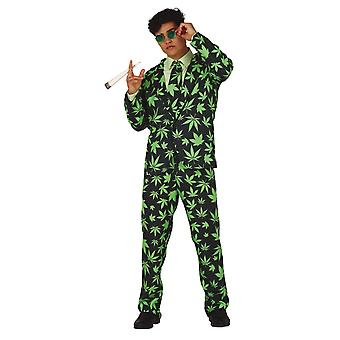 Mens Marijuana Kostym Fancy Dress Kostym Kostym