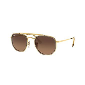 راي بان المارشال الثاني RB3648M 912443 الذهب / براون التدرج النظارات الشمسية الرمادية