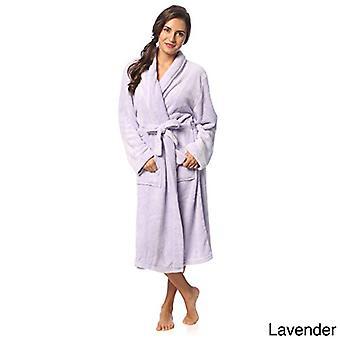 CozyHome Kvinnor & apos; microplush Bath Robe Medium Lavendel, Lavendel, Storlek Medium