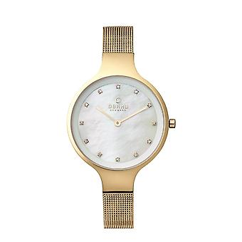 Obaku Sky Gold Women's Wristwatch V173LXGGMG