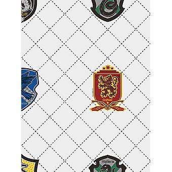Harry Potter House Pride Wallpaper White / Multi Graham et Brown 108699