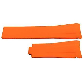 المطاط حزام ووتش التي أدلى بها w & CP لتناسب rolex بتوقيت جرينتش المحار وأوميغا سيد البحر البرتقال 20mm