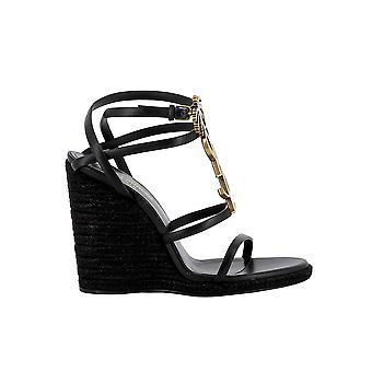 Saint Laurent 5789060mudd1000 Women's Black Leather Sandals