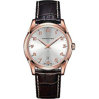Hamilton analoog kwarts mannen horloge met lederen H38541513