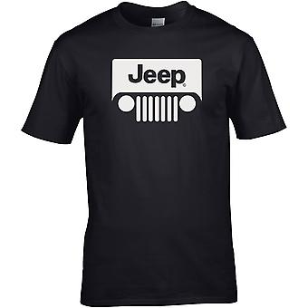 Jeep Grill 4x4 4WD - Bilmotor - DTG Tryckt T-shirt