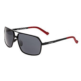 Breed Fornax Aluminium Polarized Sunglasses - Black/Black