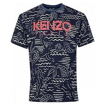 Kenzo alle über gedruckt T-Shirt