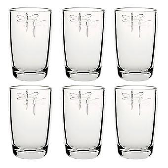 La Rochere Set of 6 Libellule Highball Glasses, 40cl