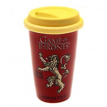 Game of Thrones Ceramic Travel Mug Lannister