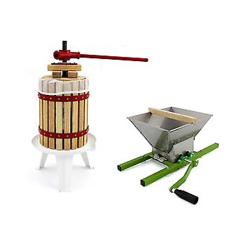 KuKoo Fruit Press & Crusher Manual Cider Making Kit Homemade Wine Pressed Juice