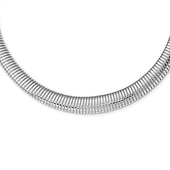 925 Sterling Silver Rhodium plated Necklace 18 Inch Jewelry Gifts for Women - 41.1 Grams