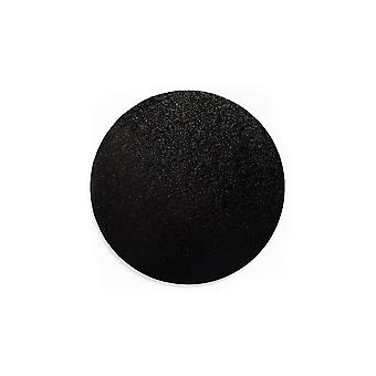 Culpitt Round Black Cake Board - 16&; - Singiel