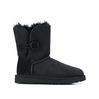 Ugg Ezcr013009 Women's Black Suede Ankel Støvler