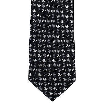 Michelsons de Londres pinho pequena gravata poliéster - preto