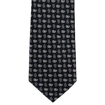 Paret av London liten furu Polyester Tie - svart