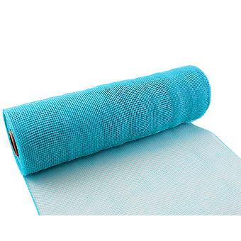 Light Blue 25cm x 9.1m Deco Mesh Roll for Wreath Making, Floristry & Crafts