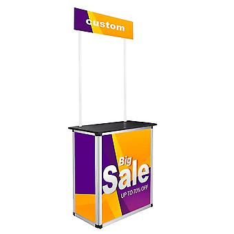 Yescom Popup Promotional Counter Table Booth Portable Demo Display Banner Stand Tradeshow Countertop Aluminum Frame
