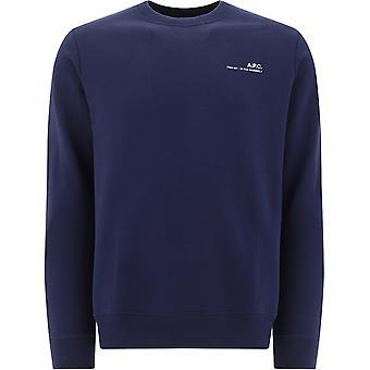A.p.c. Coeash27608iakdarknavy Men's Blue Cotton Sweatshirt