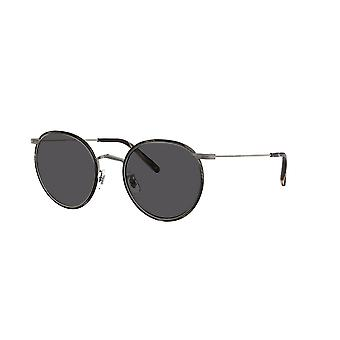 Oliver Peoples Casson OV1269ST 5076R5 Tenn-Svart Horn / Kolgrå solglasögon