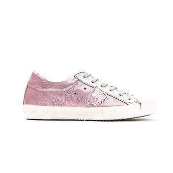Philippe Model Rosa Pink Mettalic Laced Sneakers