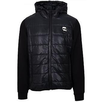 Lagerfeld Black Padded Hybrid Jacket