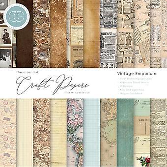 Craft Consortium Essential Craft Papers 6x6 Tommer Papir Pad Vintage Emporium