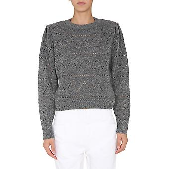 Isabel Marant ÉToile Pu133020a003e02an Women's Grey Wool Sweater