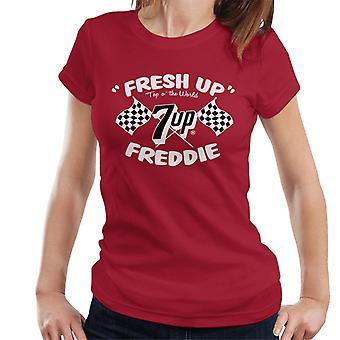 7up Fresh Up Freddie Racing Flag Women's T-Shirt
