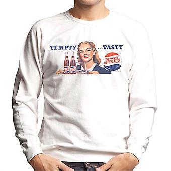 Pepsi Cola Tempty Tasty Men's Sweatshirt