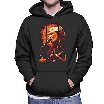 TV Times Singer Willie Nelson 1983 Men's Hooded Sweatshirt