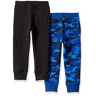 Marca - Spotted Zebra Toddler Boys' 2-Pack Fleece Jogger Pants, Blue C...