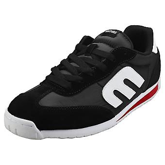Etnies Lo-cut Cb Mens Casual Trainers in Zwart Wit Rood