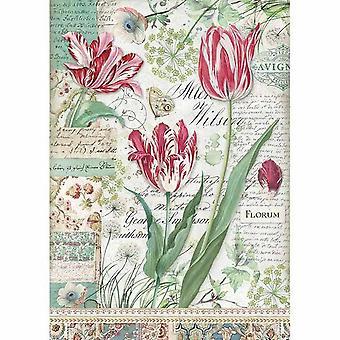 Рисовая бумага A4 Красный тюльпан (DFSA4354)