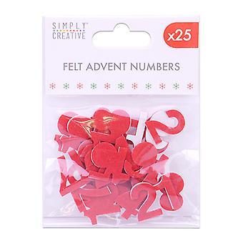 Simply Creative Christmas Felt Advent Numbers (25pcs) (SCTOP059X19)