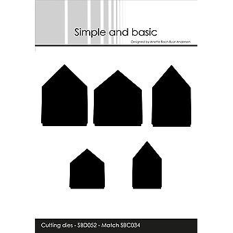 Enkla och grundläggande hus Cutting Die