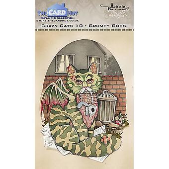 The Card Hut Crazy Cats Grumpy Guss Clear Stamps