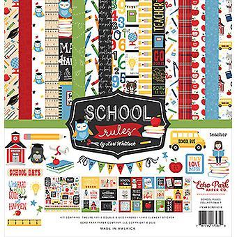 """Kit de coleta do Echo Park 12""""X12"""" - Regras escolares"""