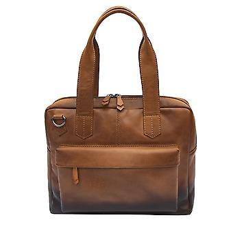 Primehide Womens Leather Laptop Bag With Compartment Shoulder Handbag 6365