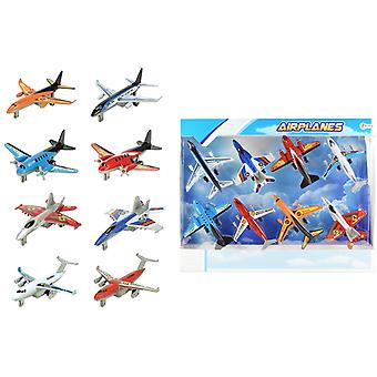 8-Pack Aircrafts Planes Flygplan 12cm