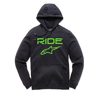 Alpinestars Män's Fleece Hoody ~ Ride 2,0 grön