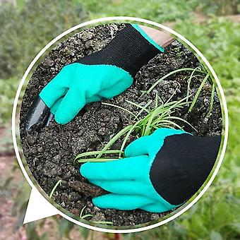 Garden Gloves With Fingertips Claws For Gardening, Digging, Planting, Pruning -
