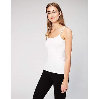 Daily Ritual Women's Seamless Camisole, 2-Pack Shirt, White/White, Medium